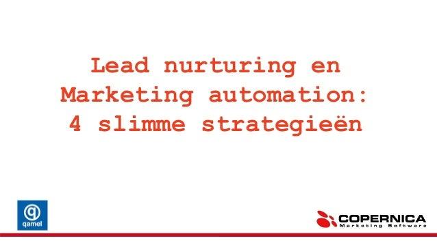 WebinarNL: 4 slimme lead nurturing strategieën 15 mei 2014