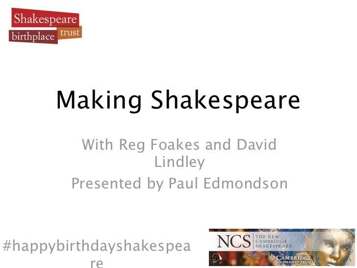 Webinar - Making Shakespeare