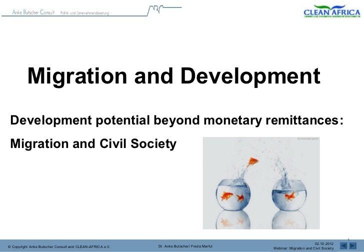 Migration and Development Development potential beyond monetary remittances: Migration and Civil Society          Communit...