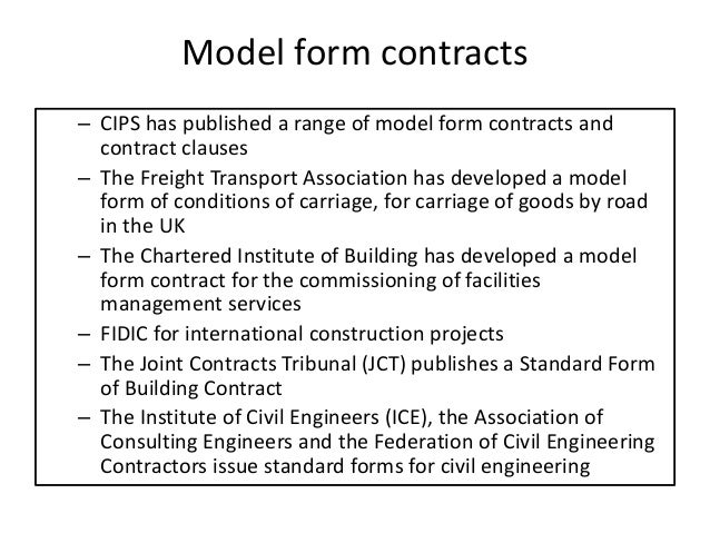 Model Form Contracts – Cips