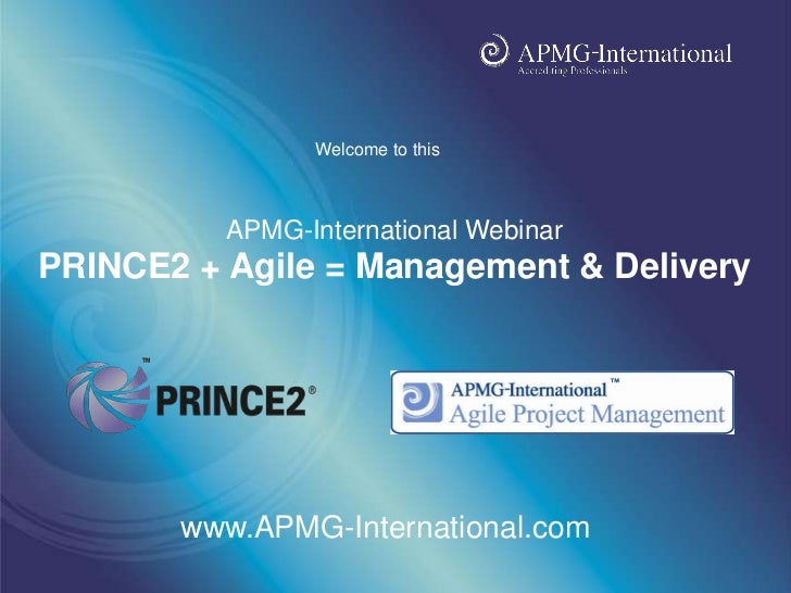 Webinar on PRINCE2 + Agile - by Ashish Dhoke (projectingIT)
