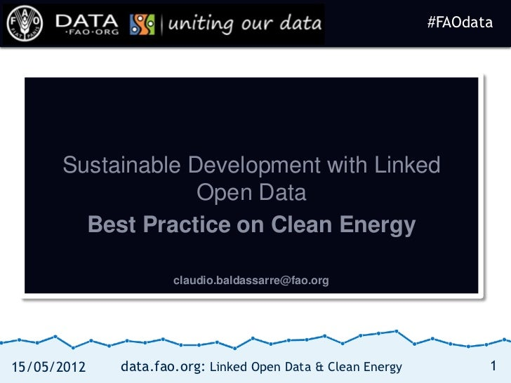 #FAOdata                                                             #FAOdata      Sustainable Development with Linked    ...