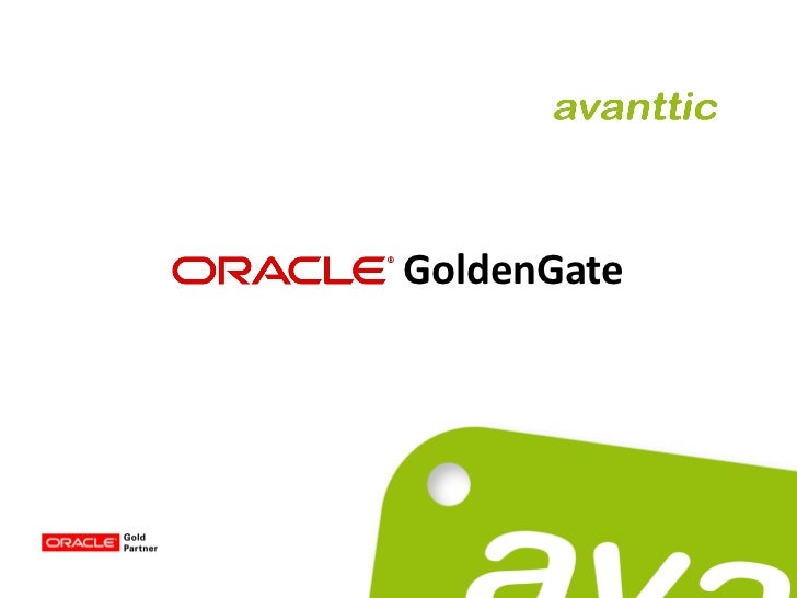 Webinar Oracle GoldenGate