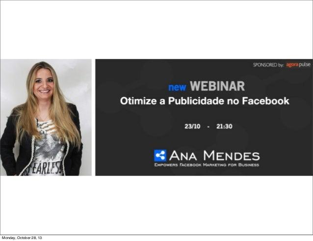 Webinar Otimize a Publicidade no Facebook