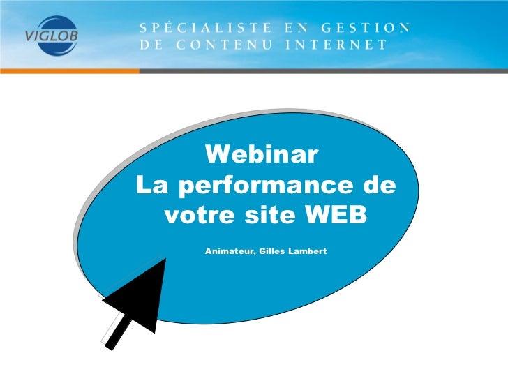 Performance de votre site web