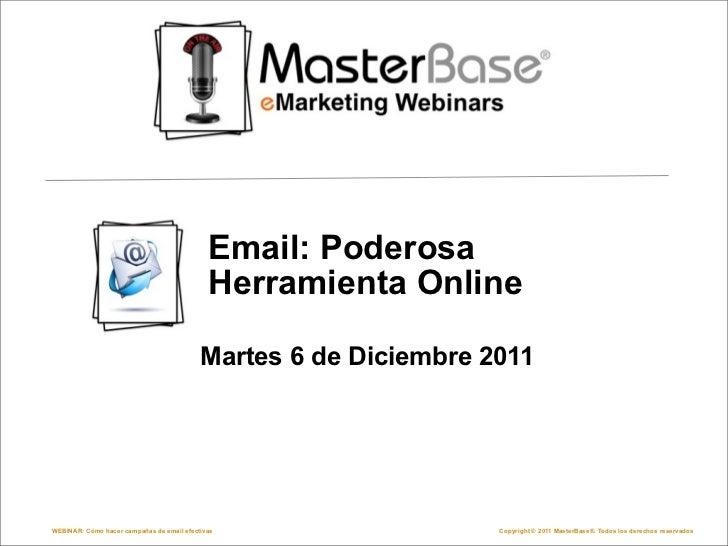 Webinar: Email poderosa herramienta online