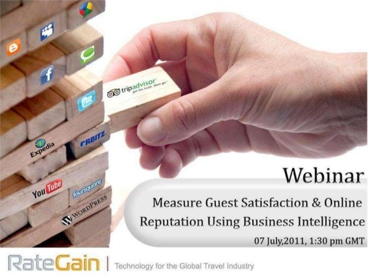 Webinar: Measure Guest Satisfaction on Consumer Review & Social Media Sites