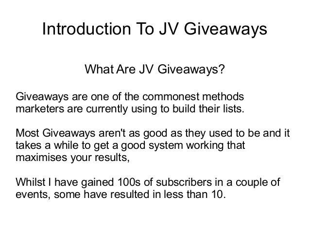 Webinar presentation   introduction to giveaways