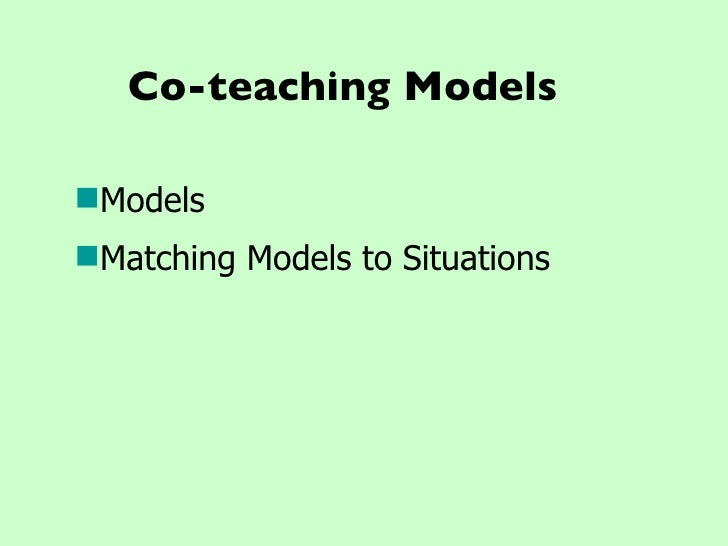 Collaborative Co Teaching Model : Collaboration and co teaching workshop