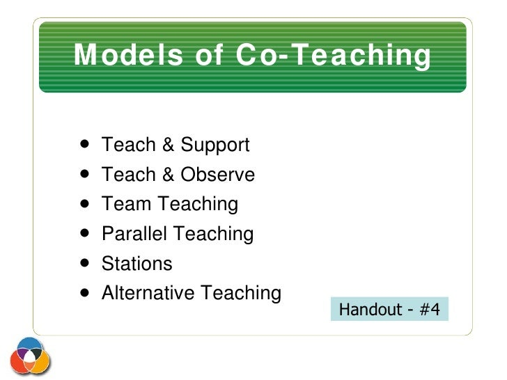 Collaborative Teaching Powerpoint ~ Collaboration and co teaching workshop