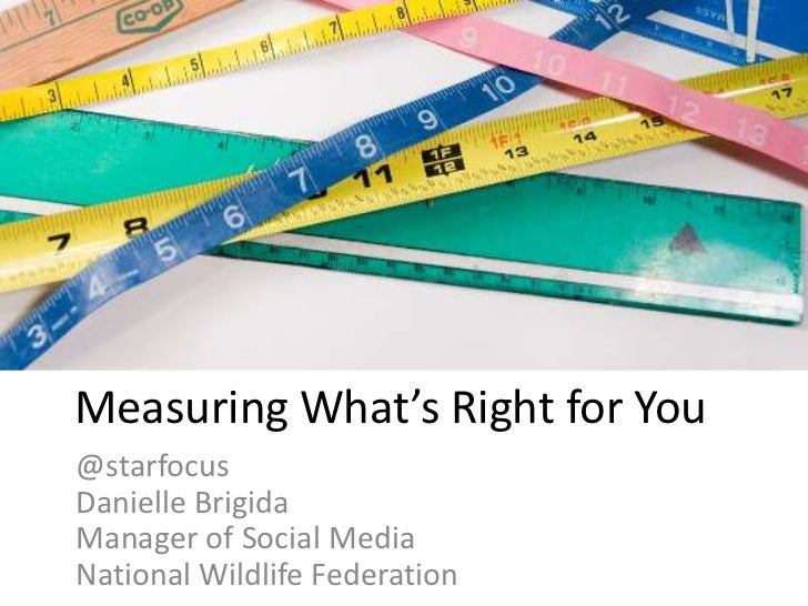 Measuring What's Right for You@starfocusDanielle BrigidaManager of Social MediaNational Wildlife Federation