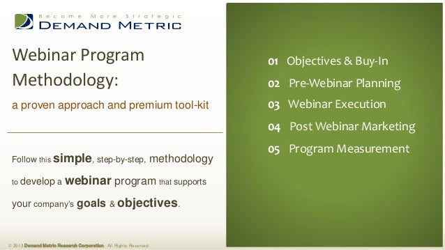 Webinar Program                                                                01 Executive Summary                       ...