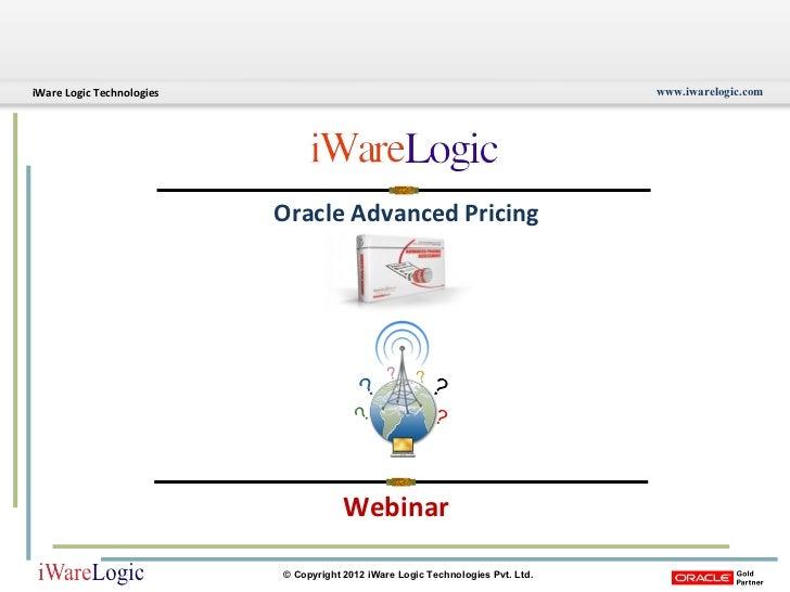 Webinar Oracle Advanced Pricing
