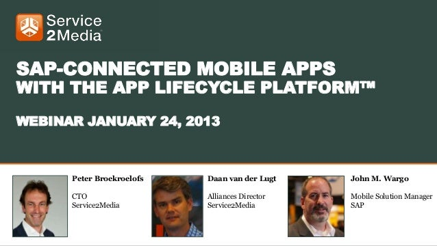 Webinar SAP connected mobile apps with the app lifecycle platform