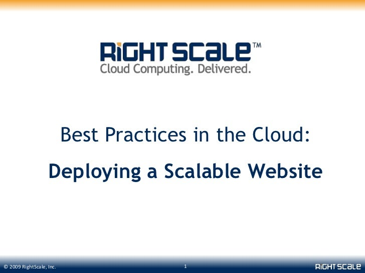 Best Practices in the Cloud:<br />Deploying a Scalable Website<br />