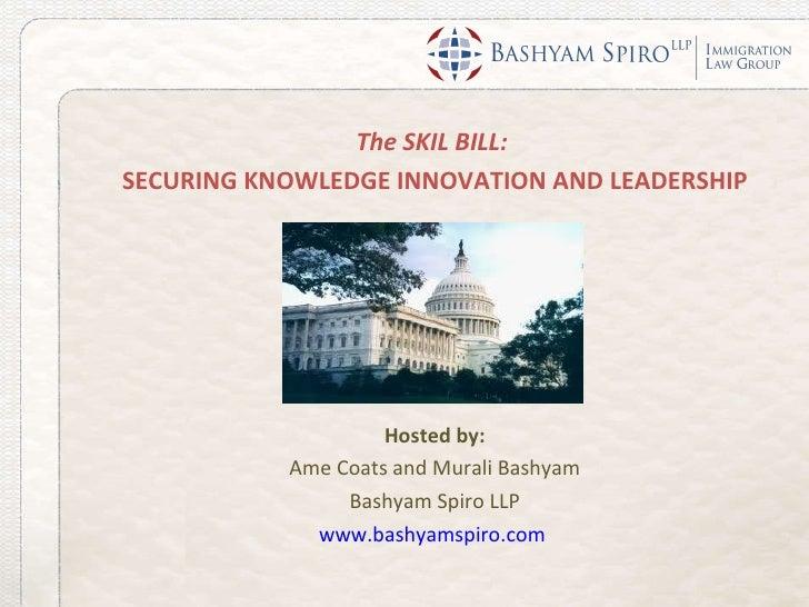 Webinar Discussion of the SKILL Bill