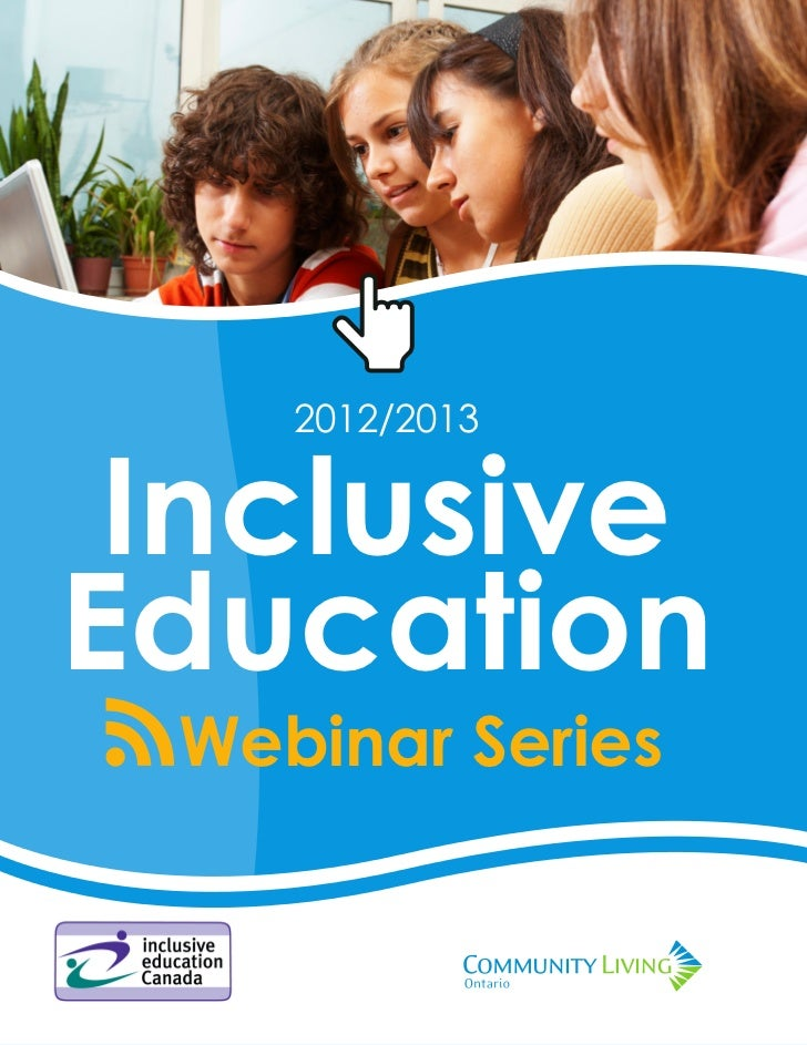 2012/2013 Inclusive Education Webinar Series