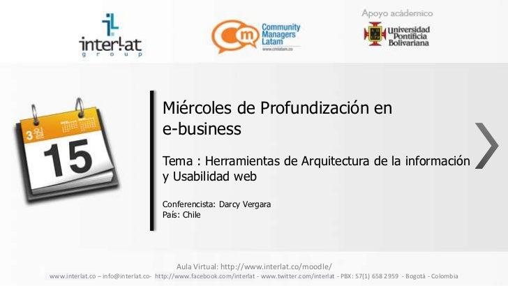 Miércoles de Profundización en                                     e-business                                     Tema : H...
