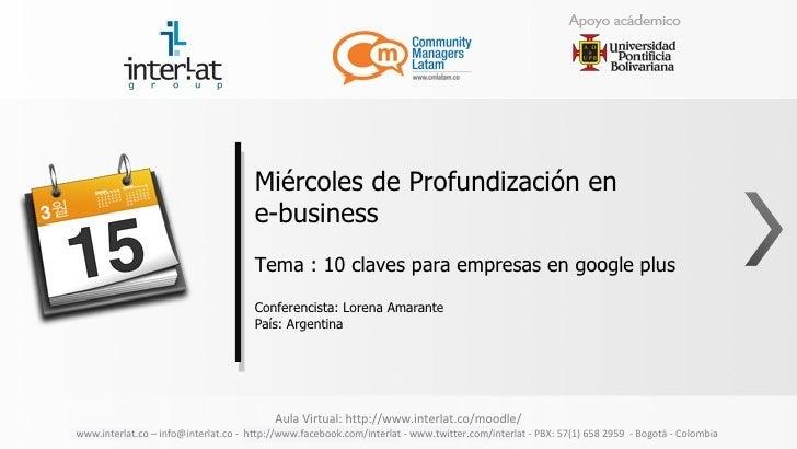 Miércoles de Profundización en                                      e-business                                      Tema :...