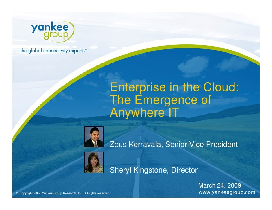 Enterprise in the Cloud:                                                                  The Emergence of                ...