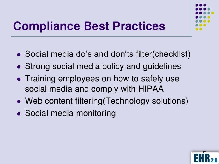 Social media policy for healthcare employees
