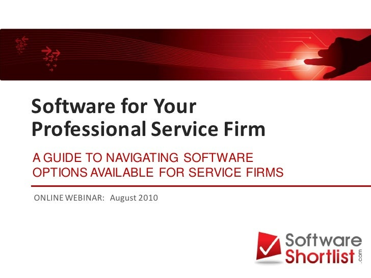 Software for Professional Service Firms