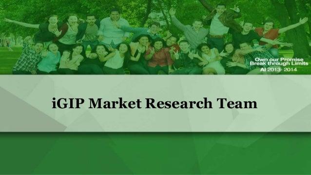 iGIP Market Research Team