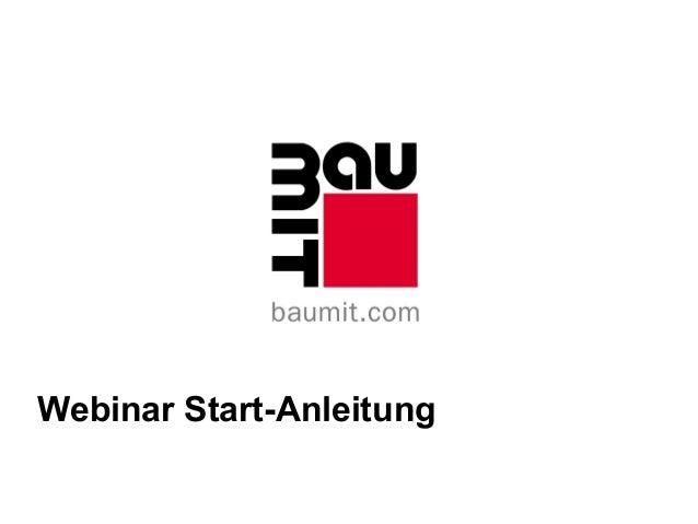 Webinar Start-Anleitung
