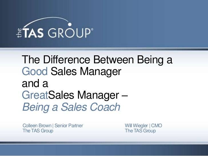 Sales Webinar | The Difference Between Being A Good And A Great Sales Manager