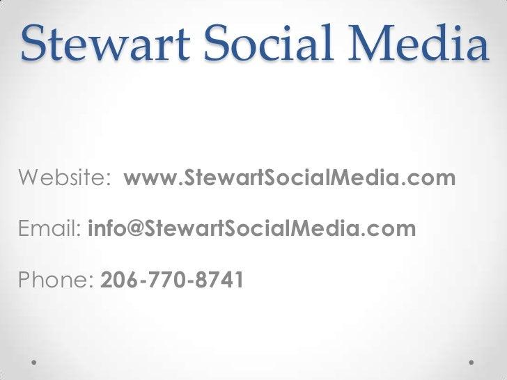 Stewart Social Media Webinar Training
