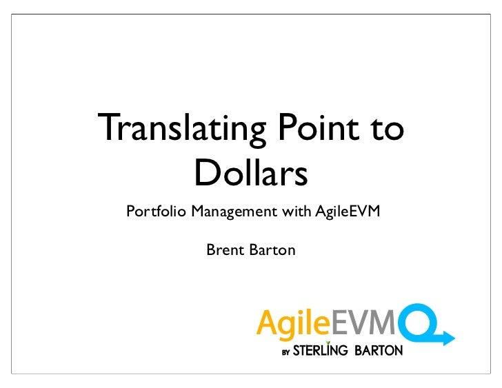 Translating Points to Dollars