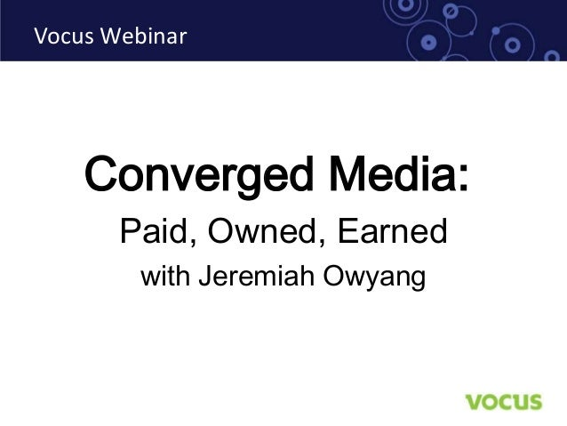 Converged Media with Jeremiah Owyang of Altimeter Group