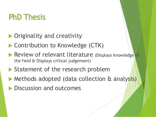 Phd thesis statement of originality