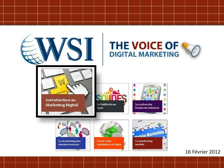Introduction au Web Marketing par les consultants WSI