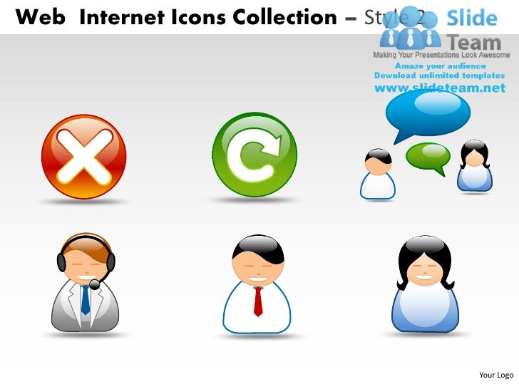 Web Internet Icons Collection – Style 2                                          Your Logo