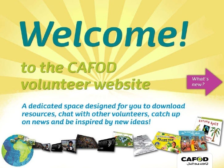 Welcome to CAFOD Volunteers
