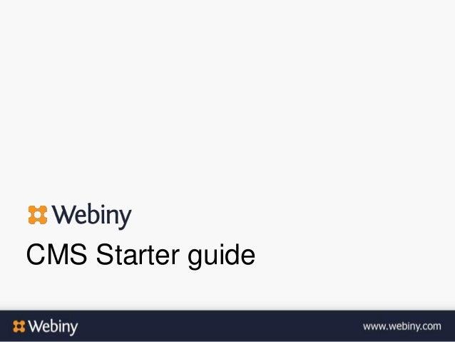 CMS Starter guide