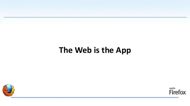 The Web is the App