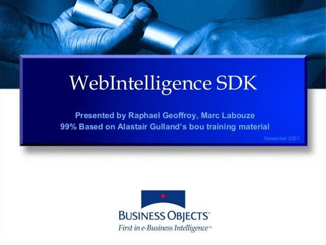 SAP Business Objects Software development Kit