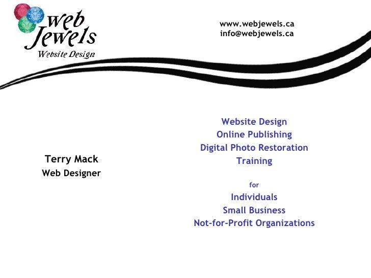 Web Jewels Website Design Portfolio