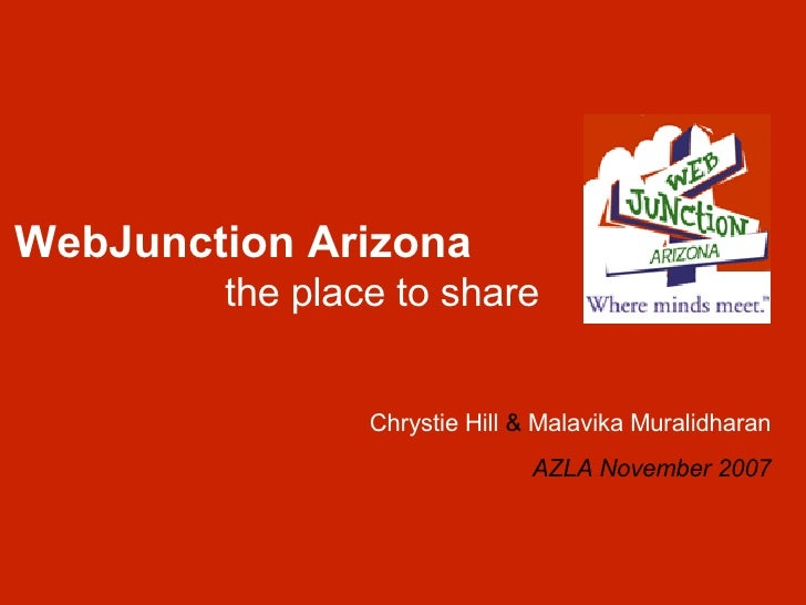 WebJunction Arizona: the place to share (Pheonix, AZ)