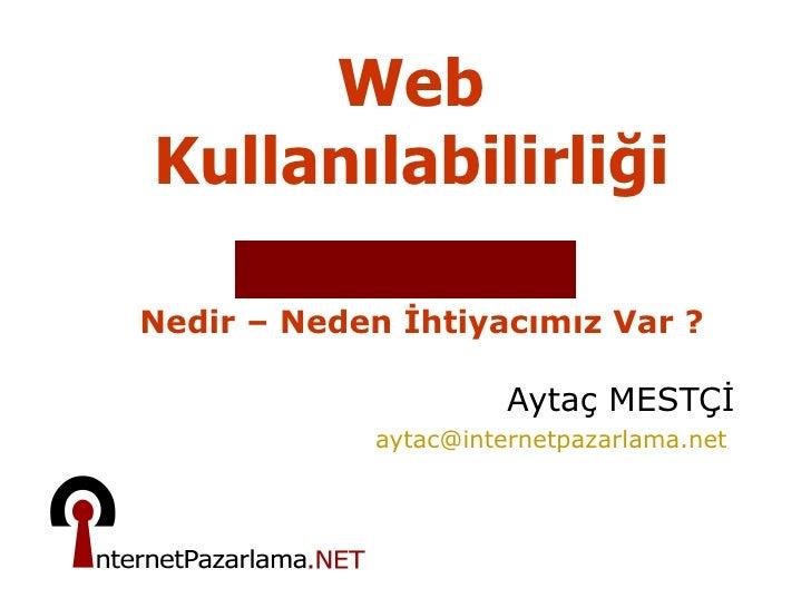 Web KullanılabilirliliğIi