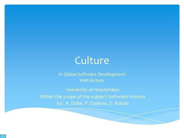 Web lecture culture