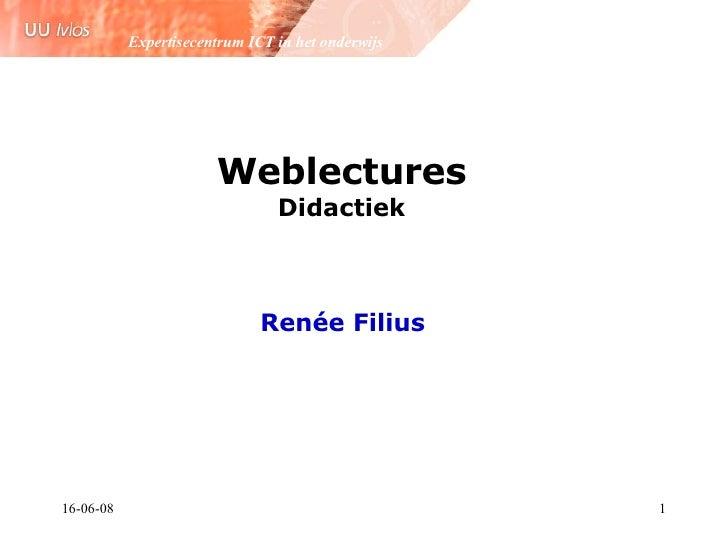 Weblectures Universiteit Utrecht