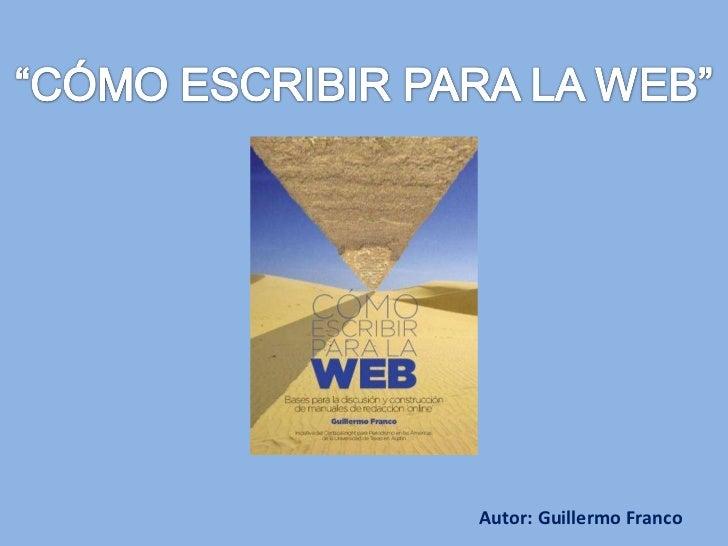"""Libro """"Cómo escribir para la Web"""""""