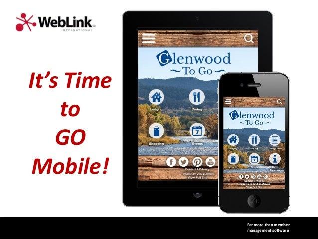 WebLink destination mobile app