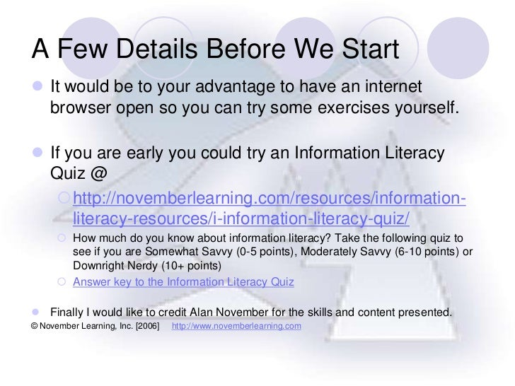 A Few Details Before We Start<br />It would be to your advantage to have an internet browser open so you can try some exer...