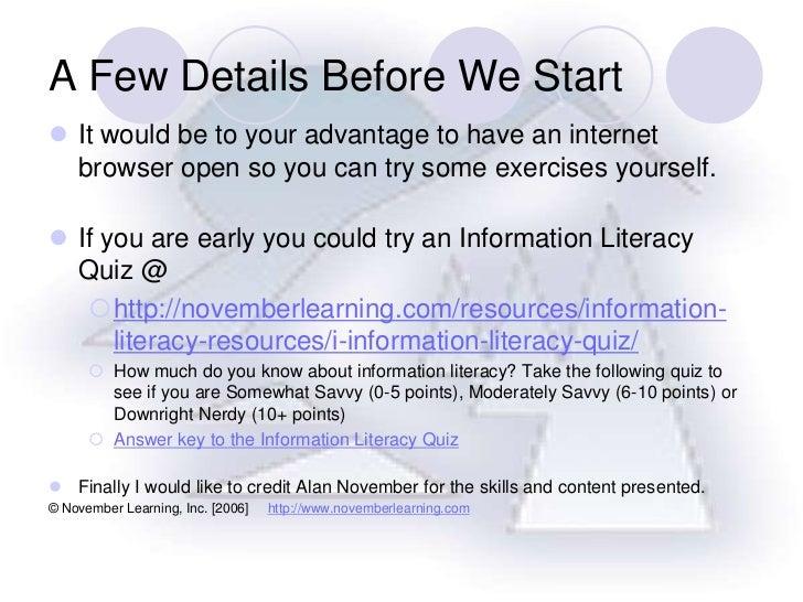 Web literacypresentation2011
