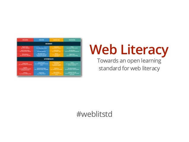 Towards a Web Literacy standard