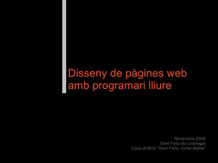 Disseny web amb programari lliure